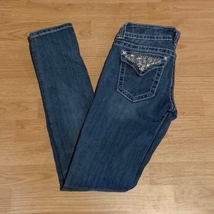 Miss Me Size 26 Distressed Skinny Jeans
